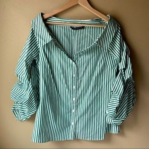 Zara Off Shoulder Blouse Women's Size Large